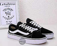 Женские кеды Vans Old Skool (black white)  6d6ed953408c4