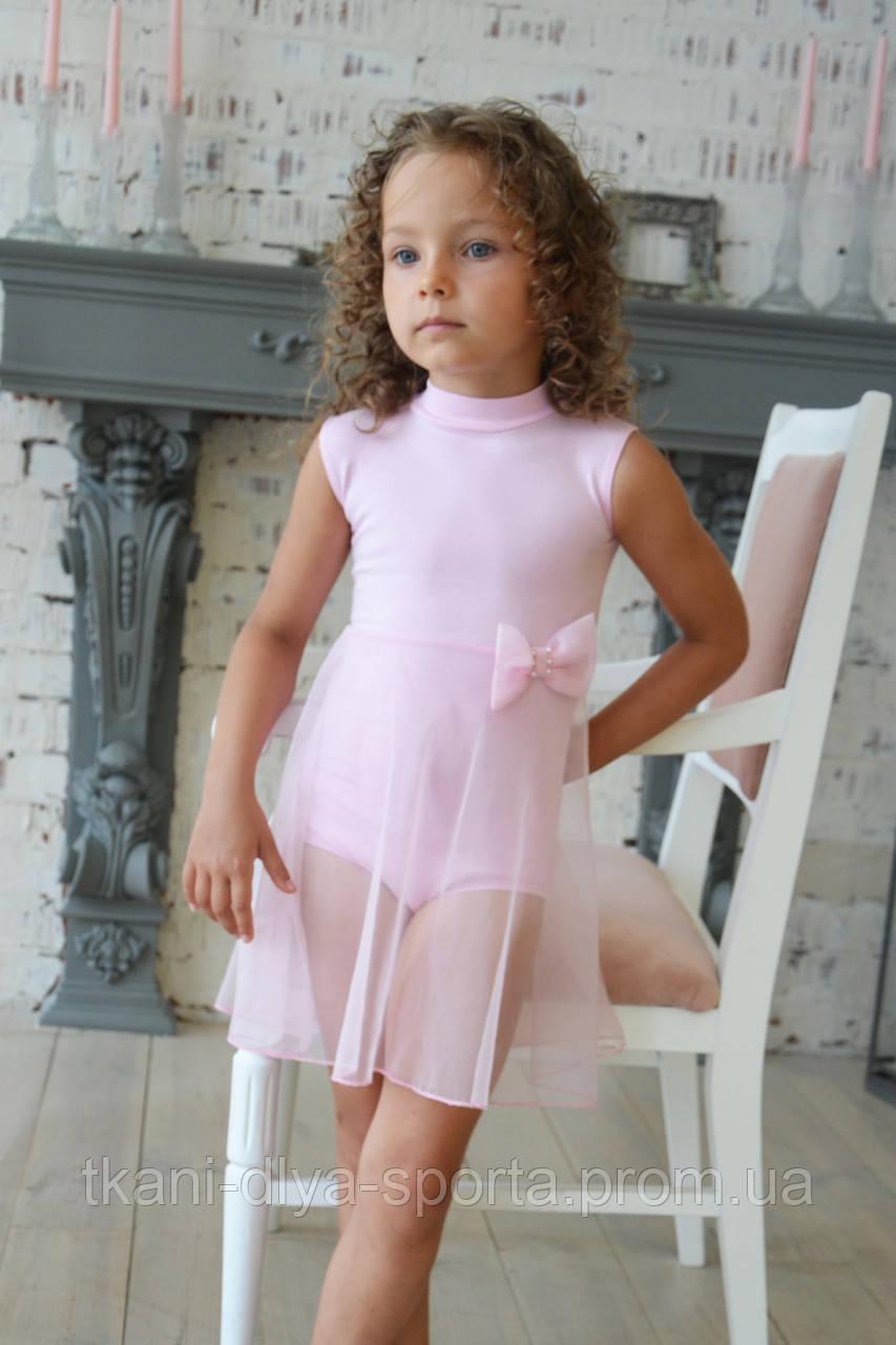 Купальник-туника светло-розовая для танцев и балета