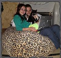 Кресло-мешок груша из экомеха Леопардовая