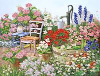 """Схема для вышивки бисером А3 """"Цветы в саду"""""""