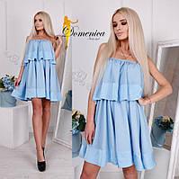 Свободное платье без бретель в цветах f-31PL2723, фото 1