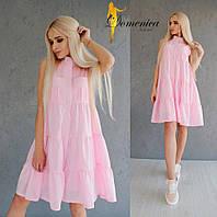 Свободное нежно розовое платье q-31PL2727, фото 1