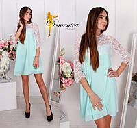 Свободное платье с кружевом в цветах t-31PL2731, фото 1
