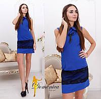 Прямое платье без рукавов с кружевом в цветах j-31PL2743, фото 1