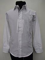 Белая детская рубашка на мальчиков 116,122,128,134,140 роста Хлопок