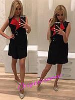 Двухцветное женское платье-кардиган b-2KA249