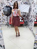 Яркая модная женская юбка н-10127, фото 1