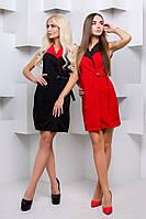 Двухцветное платье на запах без рукавов o-31PL59, фото 1