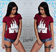Женская летняя футболка с рисунком в цветах t551722-55FU22