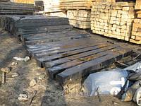 Брус деревянный пропитанный для стрелочных переводов