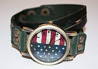 Женские наручные часы с длинным ремешком Американский флаг