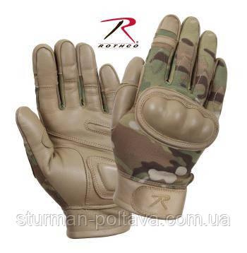 Перчатки тактические с кастетом  (МУЛЬТИКАМ ) ROTCHO США