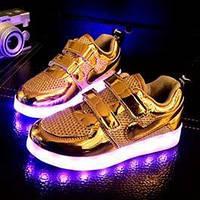 Gold air kid, золотые летние светящиеся кроссовки, фото 1