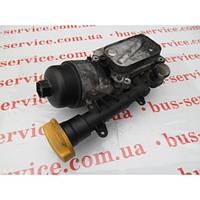 Корпус масляного фильтра для Fiat Doblo 1.3 JTD/Multijet. В сборе на Фиат Добло 1.3 джейтд/мультиджет.