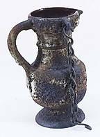 Кувшин глинянный с цепью старинный (7823.1)