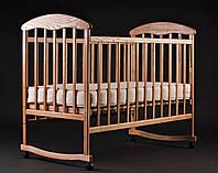 Кроватка Наталка ясень нелакированный N2