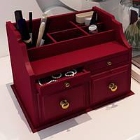Дерев'яний комодик для косметики на 4 ящики (ручна робота)