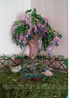 Композиция дерево желаний  из бисера, прекрасный подарок девушке на 8 марта, фото 1