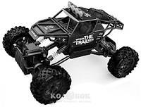 Автомобиль Sulong Toys Off-Road Crawler на р/у – Where The Trail Ends, матовый черный, аккумулятор 7.2V, 1:14