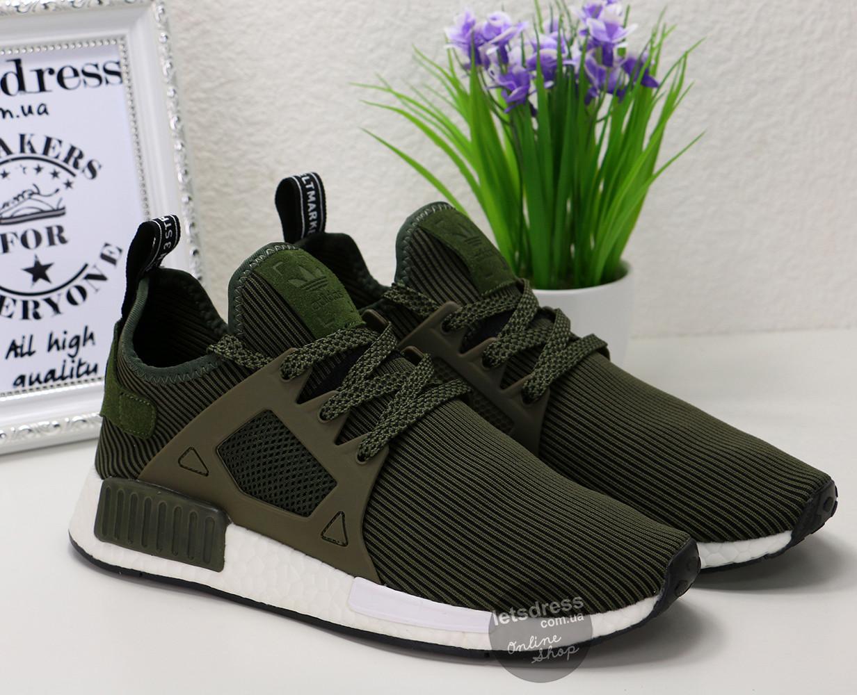 Кроссовки мужские Adidas NMD XR1 green   Адидас НМД Рунер зеленые