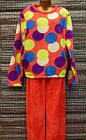 Пижама женская махровая микрофибра XXL 52-54