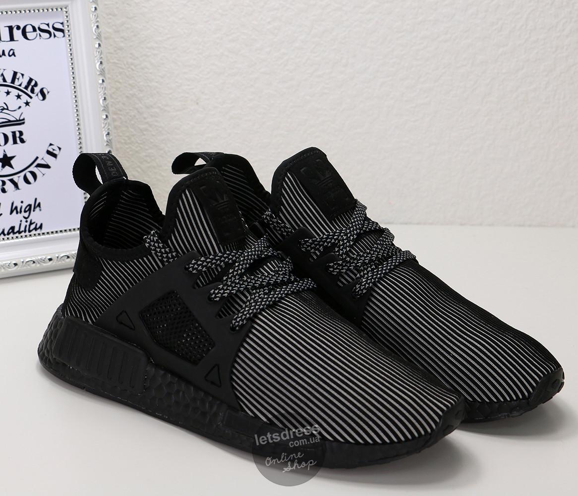 Кроссовки мужские Adidas NMD XR1 black | Адидас НМД Рунер черные