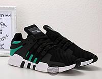 Кроссовки мужские Adidas EQT Support ADV Black Sub Green | Адидас Суппорт АДВ черные с зеленым, фото 1