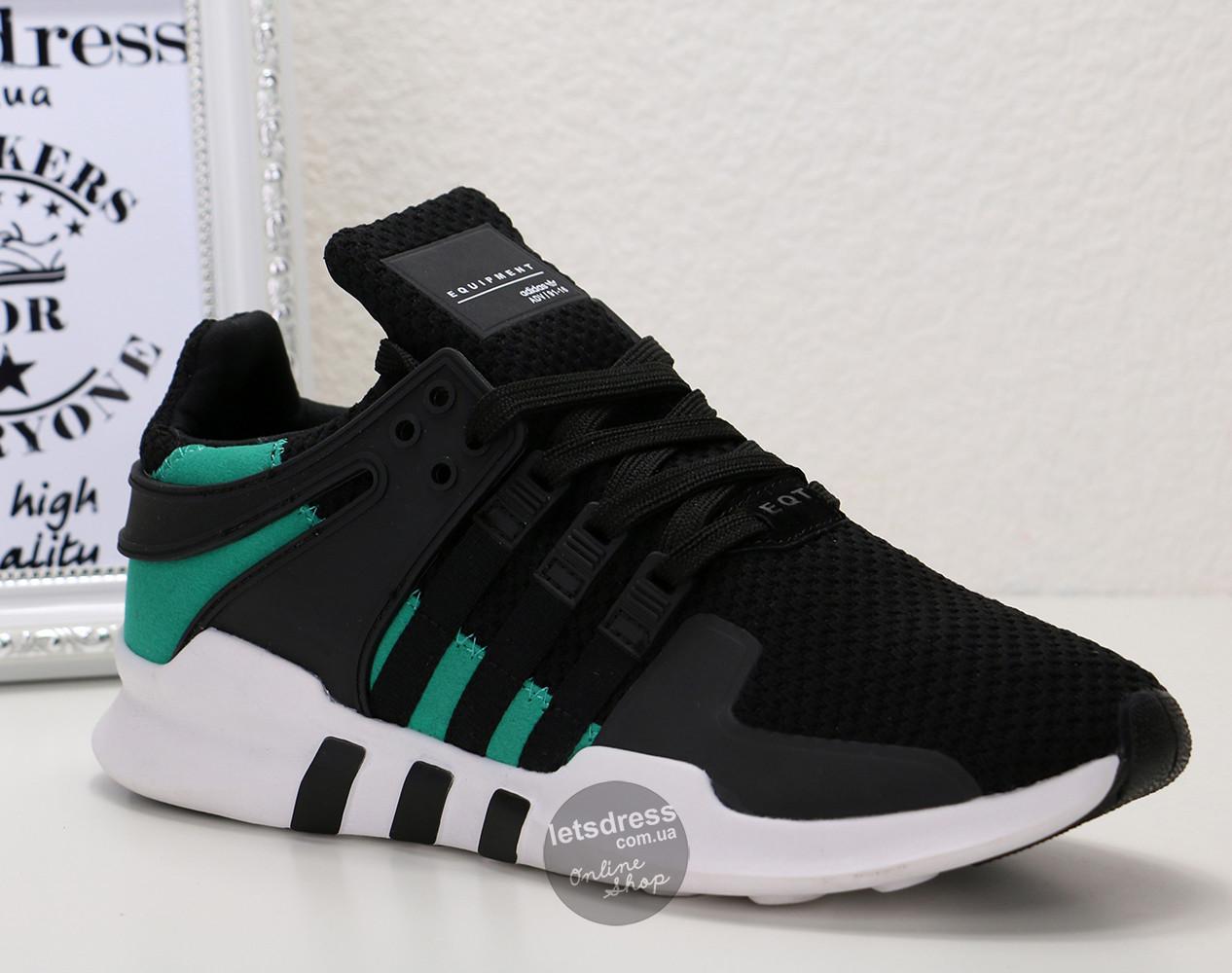 40c5a815 ... Кроссовки мужские Adidas EQT Support ADV Black Sub Green | Адидас  Суппорт АДВ черные с зеленым ...