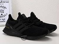 Кроссовки мужские Adidas Ultra Boost 3.0 Triple Black | Адидас Ультра бутс 3.0 трипл черные, фото 1