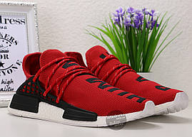 Кроссовки мужские Adidas Pharrell NMD HUMAN RACE Original Red | Адидас Фарель НМД Рейс красные