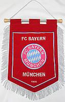 Вымпел футбольный бархатный с вышивкой герба FC Baern