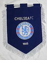 Вымпел футбольный бархатный с вышивкой герба FC Chelsea