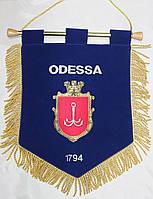 Вымпел сувенирный бархатный с вышивкой герба Одессы