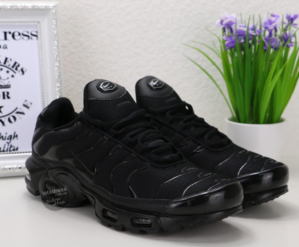 c25b50de Кроссовки мужские Nike Air Max TN Plus black | Найк Аир Макс ТН плюс черные