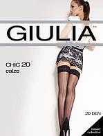 Чулки GIULIA CHIC 20 CALZE 3/4 20 FUMO (серый)