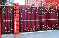 """Кованые ворота с калиткой. Возможна доставка и установка. Покраска супер эмалью """"АLPINA"""""""