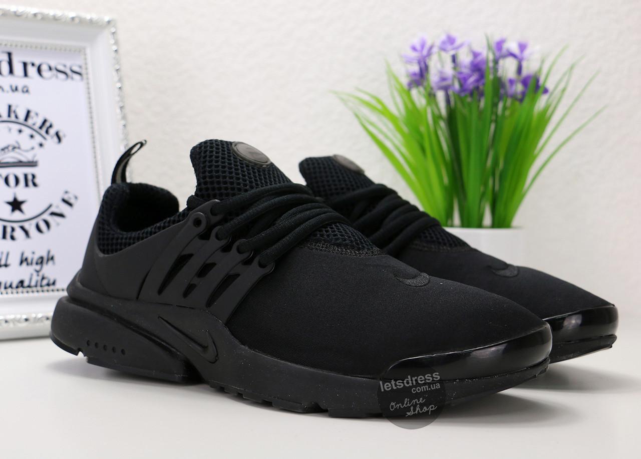 Кроссовки мужские Nike Air Presto One Black   Найк Аир Престо Оне черные реплика