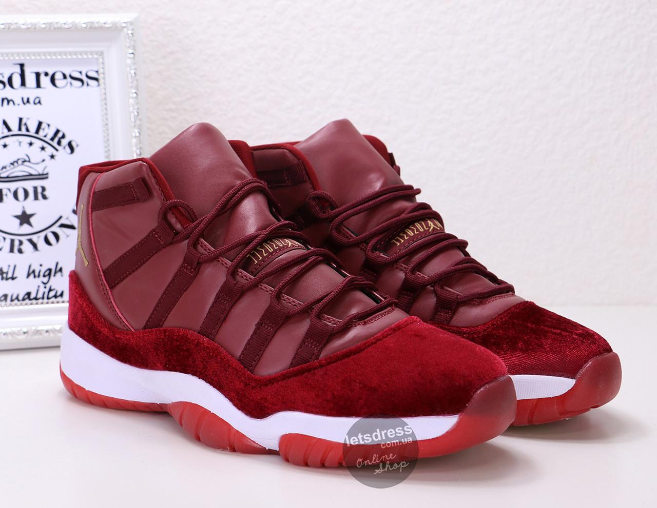 Кроссовки мужские Nike Air Jordan 11 GG Heiress Red Velvet | Найк Аир Жордан 11 ГГ Хиресс коасные