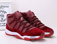 Кроссовки мужские Nike Air Jordan 11 GG Heiress Red Velvet | Найк Аир Жордан 11 ГГ Хиресс коасные, фото 1