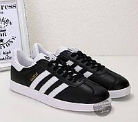 Кроссовки-кеды мужские Adidas Gazelle Black оригинал | Адидас Газель мужские черны, фото 1