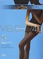 Колготки OMSA velour 40 4 (L) 40 PLATINO (насыщенный серый)