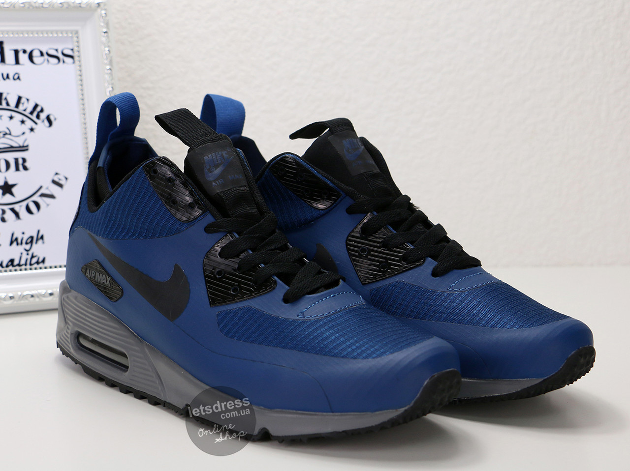 Кроссовки мужские Nike Air Max 90 Mid Winter | Найк Аир Макс 90 Мид