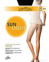 Колготки OMSA sun light 8 3 (M) 8 NERO (черный)