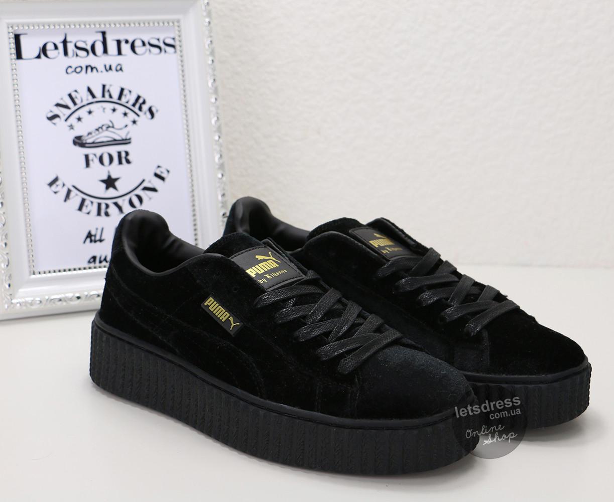 a05486c19d00 Кроссовки женские Puma Rihanna Creeper Black   Пума Риана Криперс черные -  LetsDress-Shop в