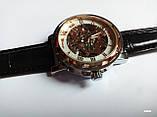 Наручные мужские часы Winner sceleton расцветка: белое с золотом, фото 3