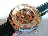 Наручные мужские часы Winner sceleton расцветка: белое с золотом, фото 4