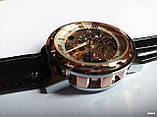 Наручные мужские часы Winner sceleton расцветка: белое с золотом, фото 7