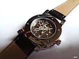 Наручные мужские часы Winner sceleton расцветка: белое с золотом, фото 8