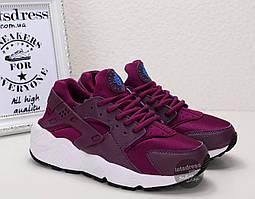 Кроссовки женские Nike Air Huarache purple | Найк Аир Хуарач пурпурные