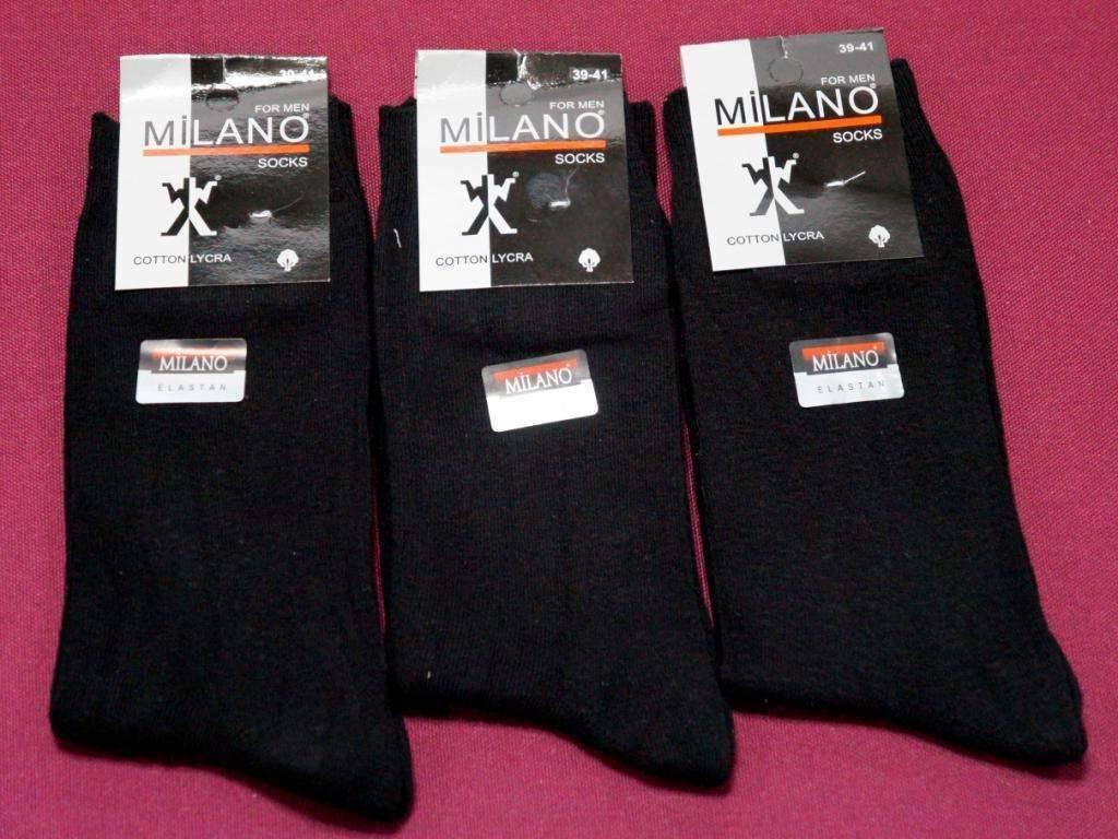 Шкарпетки лікра Milano чоловічі однотонні 2 39-41 ( 25-27 ) чоловічі